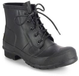 Hunter Original Lace-Up Rain Boots $175 thestylecure.com