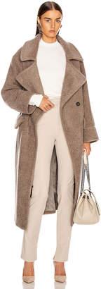 Smythe Teddy Coat in Greige | FWRD