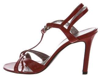 Sigerson Morrison Patent Leather T-strap Sandals