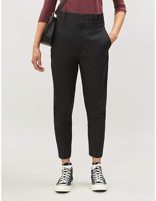 6e48cf7782d7 Etoile Isabel Marant Noah tapered cropped high-rise wool trousers