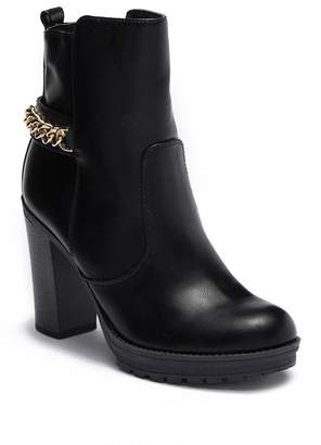 G by Guess Greedy Block Heel Bootie