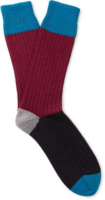Corgi Colour-Block Wool and Cotton-Blend Socks $30 thestylecure.com
