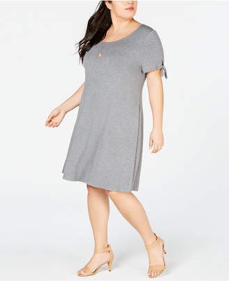 Style&Co. Style & Co Plus Size Tie-Sleeve Jersey Dress