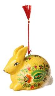 Feliz Ornament, Bunny