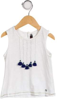 Catimini Girls' Tassel-Accented Sleeveless Top