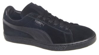 Men's Suede Classic LFS Low Top Sneaker - Black / Black