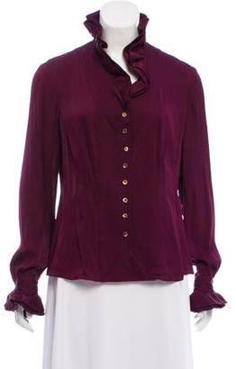 Brooks Brothers Long Sleeve Ruffle Blouse