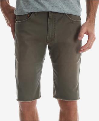 Wrangler Men's Frayed Hem Slim Fit Stretch Twill Shorts