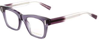 Boucheron Oversized Square Ombre Translucent Acetate Optical Glasses