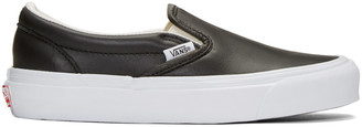 Vans Black OG Classic LX Slip-On Sneakers $80 thestylecure.com