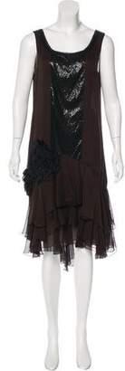 J. Mendel Silk Embellished Dress
