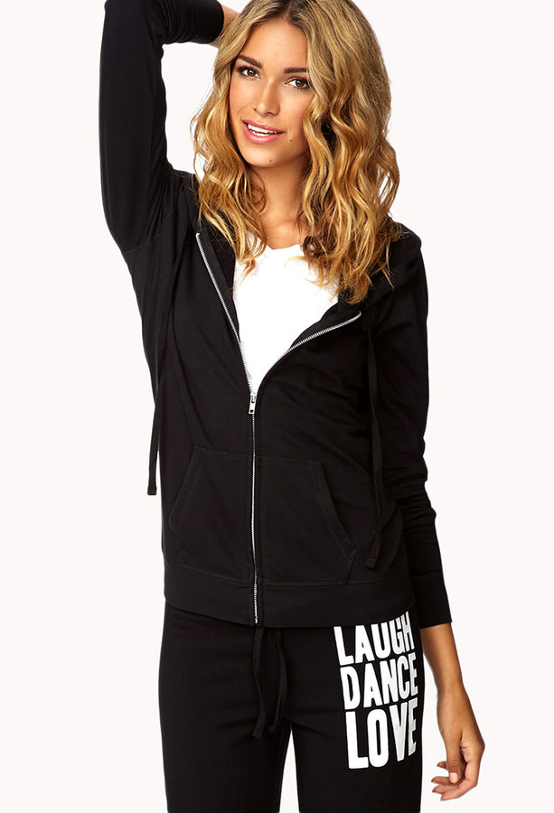 Forever 21 Laugh Dance Love Lounge Hoodie
