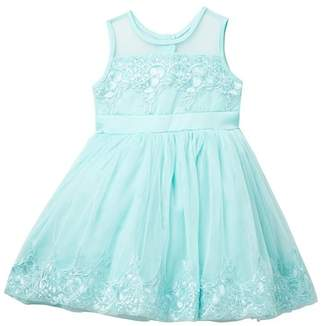 Nanette Lepore Soft Tulle & Matte Satin Dress (Toddler & Little Girls)