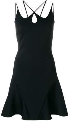 David Koma strap detail A-line dress