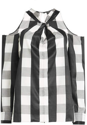 Rag & Bone Collingwood Gingham Cold Shoulder Blouse