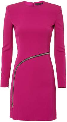 Alexander Wang Curved Zip Detail Pink Dress