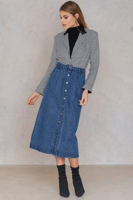Qontrast X Na Kd Front Button Denim skirt