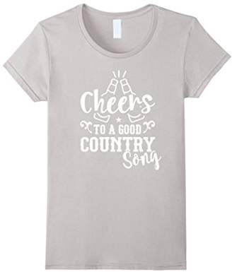 Womens Cheers to a good Country Song