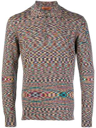 Missoni fine knit polo top