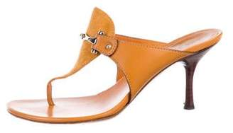 Gucci Suede Horsebit Sandals