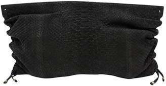 Kendall Conrad Python clutch bag