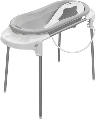 Rotho Babydesign Bath Set with Large Bathtub and Functional Stand Ideal for 2 Children 0-12 Months