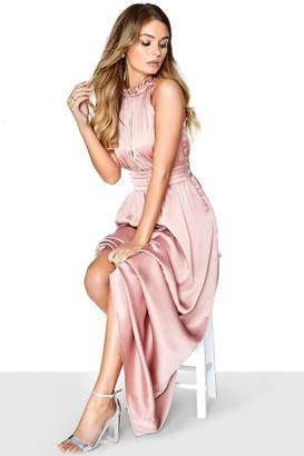 Little Mistress Rose Satin Maxi