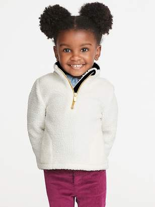 Old Navy 1/4-Zip Sherpa Popover for Toddler Girls