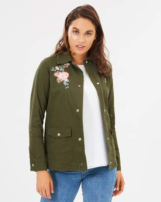 Dorothy Perkins Embroidered Zip Shacket
