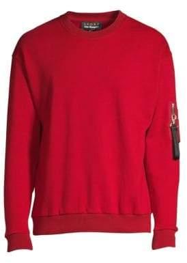 The Kooples Long-Sleeve Zip Pocket Sweatshirt