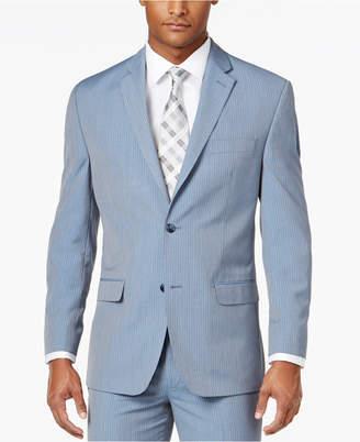 Sean John Men's Classic-Fit Light Blue Pinstripe Suit Jacket $275 thestylecure.com