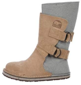 Sorel Girls' Suede Round-Toe Boots