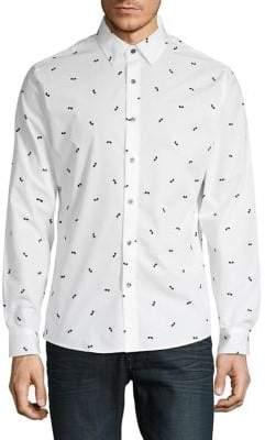 Michael Kors Graphic Button-Down Shirt