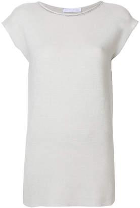 Fabiana Filippi fine knit longline T-shirt