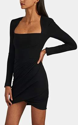Versace Women's Ponte Long-Sleeve Minidress - Black