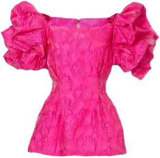Bambah ruffled tunic blouse