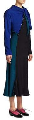 Marc Jacobs Tie Neck Embellished Midi Dress