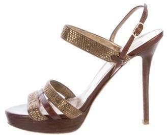 Valentino Embellished Multistrap Sandals