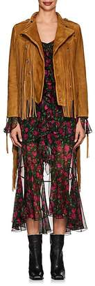 Faith Connexion Women's Fringed Suede Western Jacket