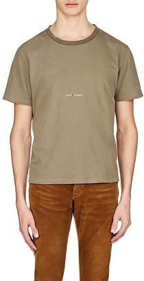 Saint Laurent Men's Logo Cotton T-Shirt