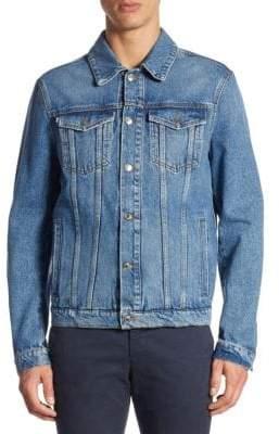 MSGM Patched Cotton Denim Jacket