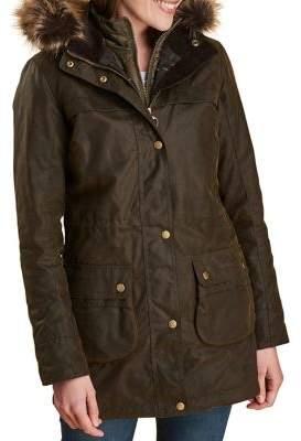 Barbour Dartford Faux Fur Hooded Jacket