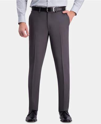 Haggar Men Premium Comfort Slim-Fit Performance Stretch Flat-Front Dress Pants