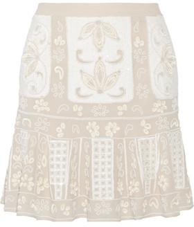 Needle & Thread Embellished Chiffon Mini Skirt