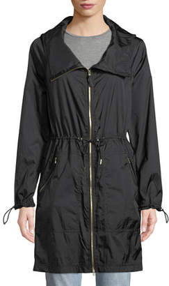 Mackage Ellia Packable Long Rain Coat w/ Removable Hood