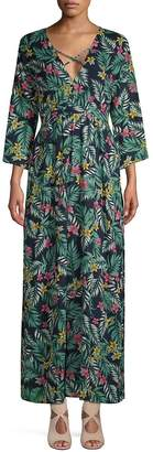Lucca Couture Women's Hayden Plunging Maxi Dress