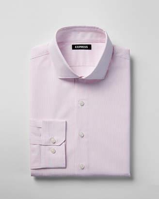Express Extra Slim Striped Spread Collar Shirt