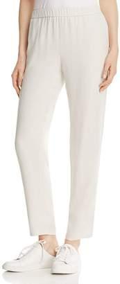 Eileen Fisher Slouchy Silk Ankle Pants, Regular & Petite