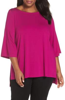 Eileen Fisher High/Low Jersey Top