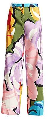 Escada Women's Floral Wide-Leg Pants